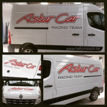 Lettrage Camionnette Astur Car